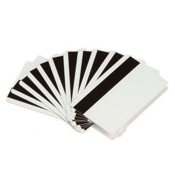 Carte eco Zebra PVC blanc avec piste magnétique