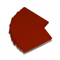 500 cartes PVC couleur rouge