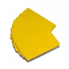 500 cartes PVC couleur jaune