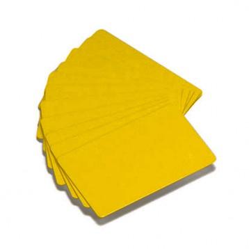 Carte Zebra PVC couleur jaune