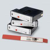 Bracelet ZEBRA - Z-Band UltraSoft adulte - BORD ROUGE - en cartouche
