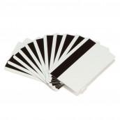 500 cartes economique en PVC blanc avec piste magnétique